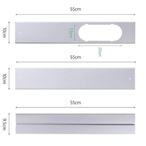 Reuvv Regolabile Finestra Kit Targa Scarico Tubo Flessibile Connettore per Condizionatore Portatile - 3 Pezzi