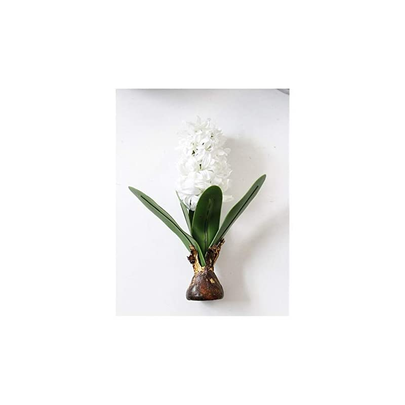 silk flower arrangements yyjht artificial flowers artificial flower hyacinth with bulbs ceramics silk flower simulation leaf wedding garden decor home table accessorie plant 1pc