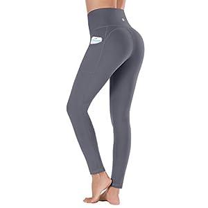 Ewedoos Women's Yoga Pants with Pockets – Leggings with Pockets, High Waist Tummy...