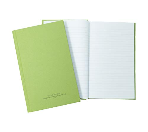"""Tacticai Green Military Log Book (5.25"""" x 8"""" – 192 Pages), Record Book for Record Keeping, Supply Chain, Inventory, Training, Maintenance & Field Operations, NSN 530-00-222-3521"""