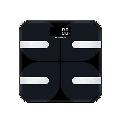 Báscula Escala de Grasa Corporal con Bluetooth y App para Andriod e iOS, Cozzine Báscula de Baño Digital, 18 Mediciones De Salud Básicas, Báscula Electrónica Inteligente - Alta Precisión