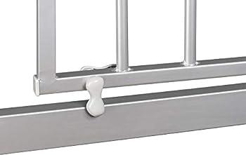 ib style- Berrin Barrière de sécurité 75-175 cm | Auto-Close | 90°Arrêt | utilisation à une main|Blanc-gris 115-125cm