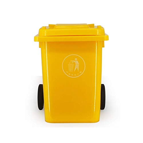 Dustbins 80 liter vuilnisbak buiten licht gewheeled prullenbak kan verschuiven Multiple Color Classified afvalbak Hotel Commercial Trash verdikt Can Trash (kleur: blauw maat: 80L) 80 liter, geel
