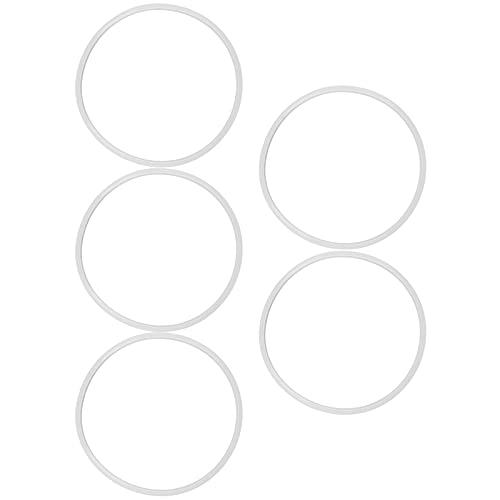 5 uds, Anillo de olla a presión, anillo de sellado de silicona, anillo de sellado, cocina segura para olla a presión de aleación de aluminio, general(18 cm)