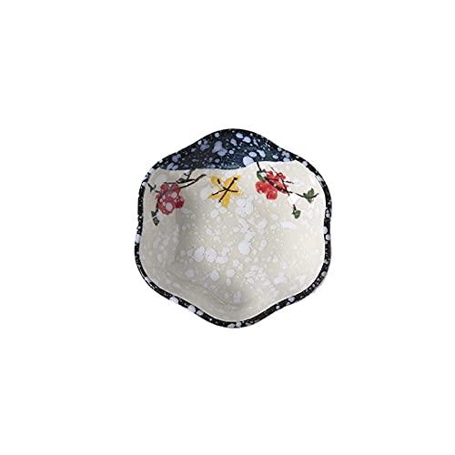 YSJUN Plato de cerámica para condimentos de flores, sushi, mostaza, pimienta y salsa, cocina (color : A, tamaño: libre)