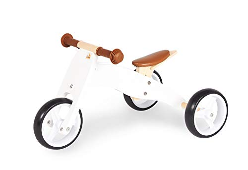 Pinolino Charlie-Mini Triciclo para Bicicleta (4 Posiciones), Blanco
