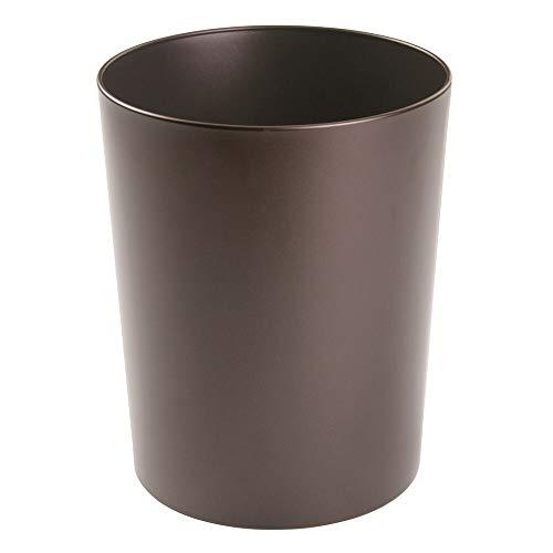 mDesign pattumiera in metallo – elegantissimo cestino spazzatura per il bagno, l'ufficio e la cameretta – bidone per carta – bronzo