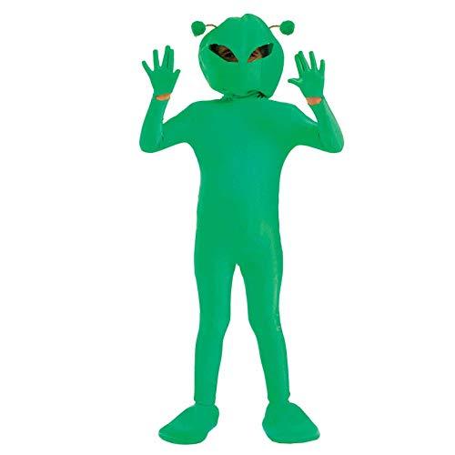 Fun Shack Déguisement pour Enfant Costume d'Extraterrestre Vert pour Garçon et Fille - Taille XL
