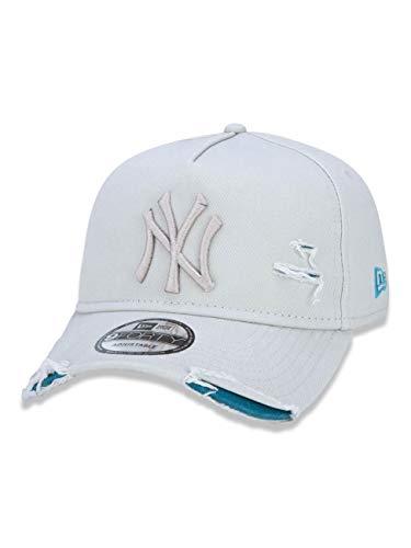 BONÉ NEW ERA 9FORTY A-FRAME DESTROYED MLB NEW YORK YANKEES OFF WHITE