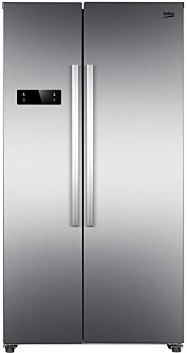 Beko GNO4321XP Side-by-Side Kombination/NoFrost/Multifunktionsdisplay/43 dB/Hxbxt: 177x90x59 cm/Edelstahllook