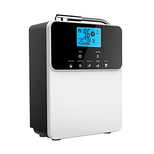 MIJOGO Wasser-Ionisator, Wasserreiniger, Purifier-Machine-Filtrationssystem PH 2.8-11 basische Säure-Wasser-Maschine, bis zu -800 mV ORP, 5 Wassereinstellungen, automatische Reinigung