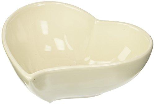 PABEN Grande Cuore Ciotola, Ceramica, Bianco