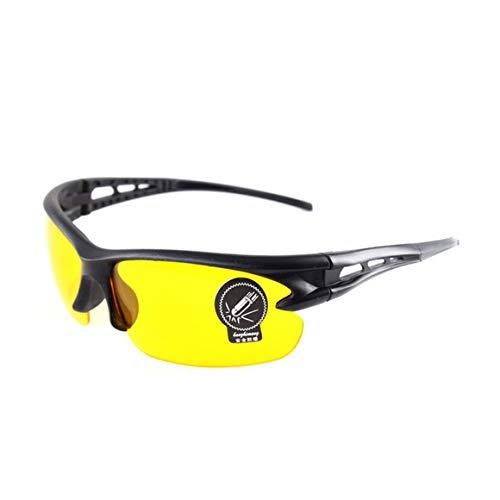 Yixikejiyouxian Uv400 Ciclismo Nocturno Montar Gafas de conducción Gafas de Sol Deportivas Gafas Lentes y Marcos de policarbonato