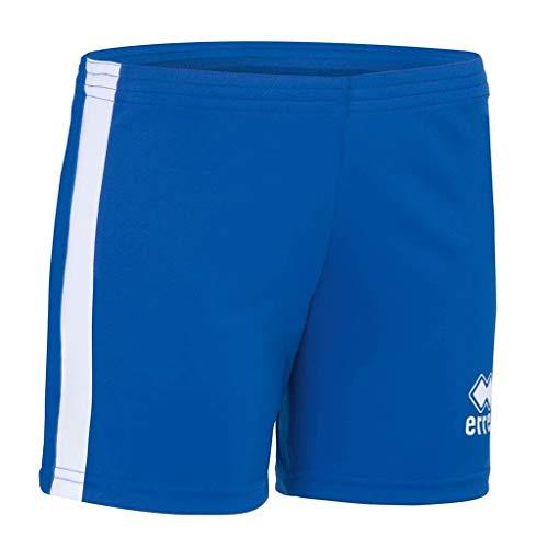 Errea Amazon Pantalones Cortos Deportivos, Mujer, Azzurro Bianco, M
