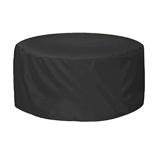 ZXHQ Cubierta Mesa JardíN Patio 102x71cm, Redondo JardíN Mesa Funda, Protectora Mesa De Patio Impermeable A Prueba Viento Anti Rayos UV para Muebles De Exterior Terraza