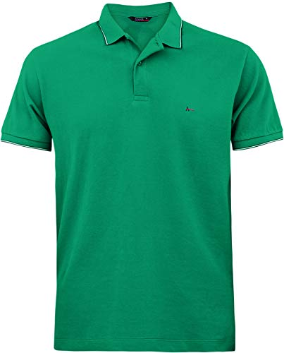 Camisa Polo listras na gola, Aramis, Masculino, Verde Jade/Petróleo, P