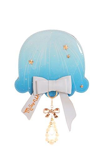 Kawaii-Story LB-95-2 Hell-Blau Jellyfish Qualle Fantasy Schleife Perlen Sweet Pastel Goth Lolita Bag Japan Harajuku Tasche