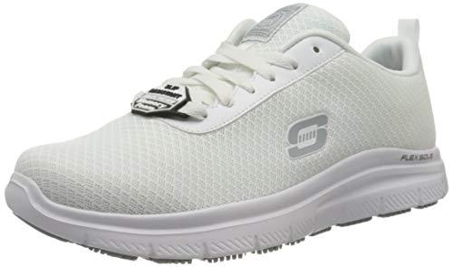 Skechers Herren Flex Advantage SR Sneaker, weiß, 42 EU