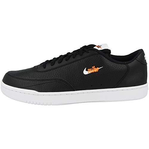 Nike Court Vintage Premium, Scarpe da Tennis Uomo, Black White Total Orange, 41 EU