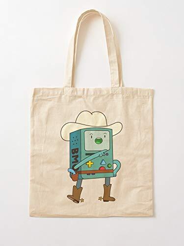 Gameboy Game BMO Time Adventure Life Cute Gamer   Einkaufstaschen aus Segeltuch mit Griffen, Einkaufstaschen aus robuster Baumwolle