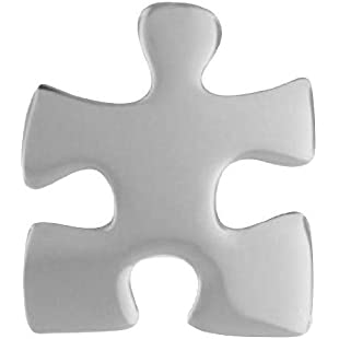 Silver Autism Awareness Lapel Pin