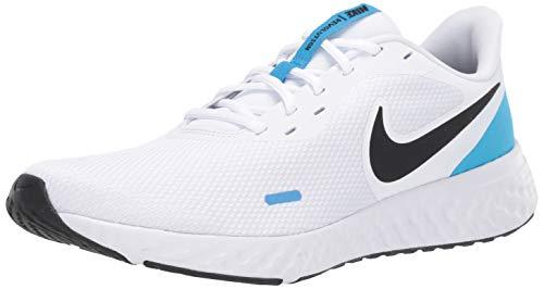 Nike Men's Revolution 5 Running Shoe, White/Black-Blue Hero, 11 Regular US