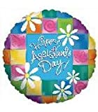 Betallic 18' Happy Assistant's Day Administrative Thank-you Party Decoration Supply Mylar Foil Helium Balloon - Pack of 5