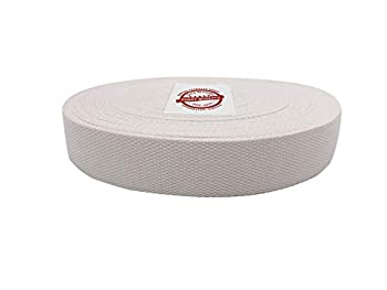 Canvas Products Group 25 Yard Roll - 1.5  Wide Premium Quality Natural Cotton Webbing - No Harmful Dyes Easy to Use - Perfect for Crafting Belts Handbags Tote Straps Furniture Trim CPG 25x1.5