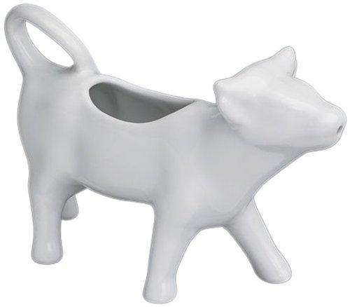 Cilio Pot à Lait en Forme de Vache - 125 ML - Porcelaine - Blanc