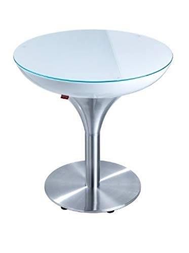 Moree lounge table lounge MX 55, métallique/Blanc, Aluminium et plastique, 27 – 01 – 55