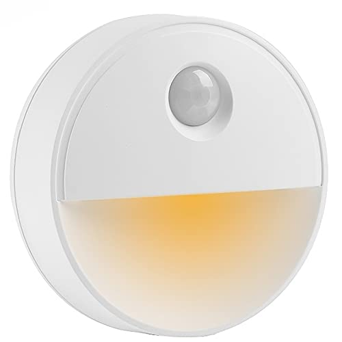 Luz De Sensor De Movimiento Interior, Lámpara LED De Sensor De Movimiento Corporal Con Batería De 0,5 W, Luz De Gabinete, Lámpara De Disco De Pared Inalámbrica, Para Dormitorio Pasillo