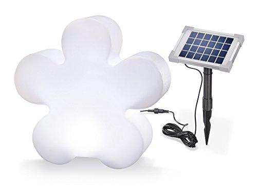 Objet lumineux solaire Trèfle 8 couleurs lumière lumière continue ou Changement lumière Dimensions : (L x H x P) : 46 x 44,5 x 15 cm Esotec Lampe design 106016
