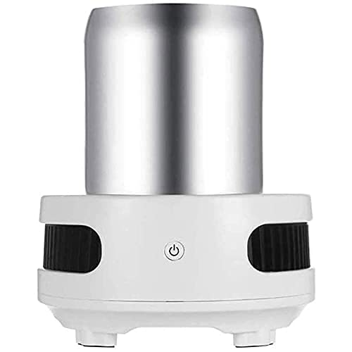 Nevera Eléctrica Portátil Refrigerador eléctrico Mini refrigerador Refrigerador Refrigerador eléctrico de verano, 380 ml, taza de enfriamiento de aluminio, accesorios de taza eléctrica, para vino / ce