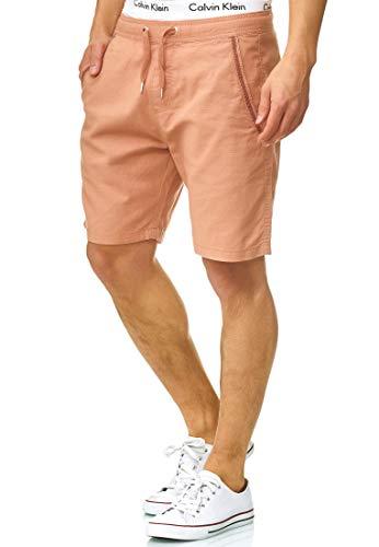 Indicode Homme Bridstow Short Chino 55% Coton & 45% Lin | Court Pantalon Regular Fit Bermudas Jusqu'au Genou Pantalon d'été Homme Men Pants Chino pour Homme Cork 3XL