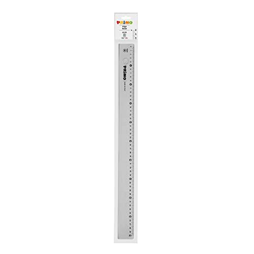 Morocolor PRIMO, Righello da 50 cm, Riga color grigio fumé, Antiriflesso,Stabile e resistente, Lettura facilitata, Alta precisione, Ideale per il disegno tecnico