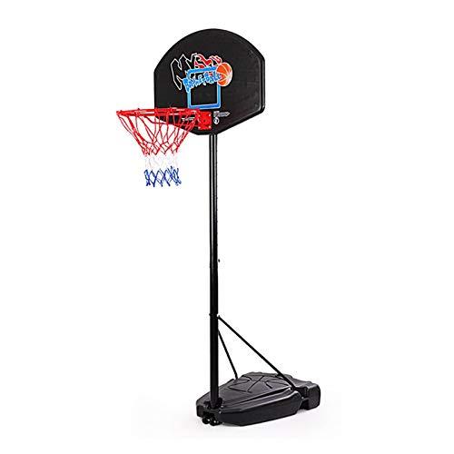 NDFGHNR Soporte portátil de Baloncesto con Tablero de Altura Ajustable 205-260cm, Sistema de Red de aro de Baloncesto de pie Libre sobre Ruedas para niños niños Regalo