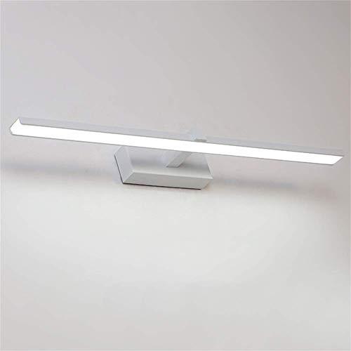 Waqihreu Luz LED para gabinete, Moderno, Impermeable, Espejo, luz Frontal, Luces de Pared, baño, luz para gabinete, luz de Maquillaje, baño, Inodoro, Blanco, luz Blanca, 60cm-12w