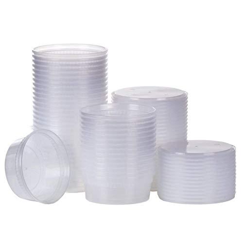 SWZY 20pack 12oz Kleine Plastikbehälter mit Deckel - Gefrierschrankbehälter Deli Behälter mit D