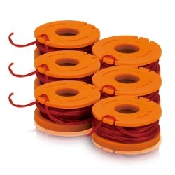 WORX Hot Replacement Parts & Accessories WA0010 Replacement 10-Foot Grass Trimmer/Edger Spool Line 6-Pack for WG150, WG151, WG152, WG155, WG165, WG166, WG160, WG167, WG175