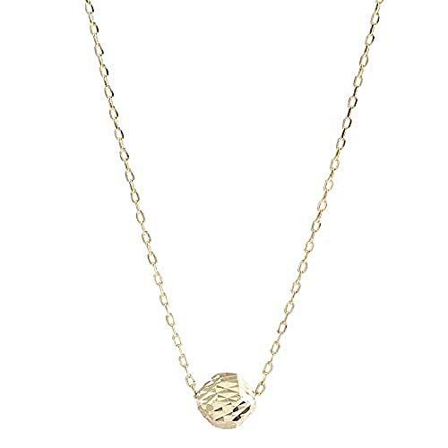 Ahuyongqing Co.,ltd Necklace Single Small Golden Bean Chain Female Collarbone Chain