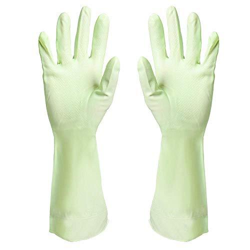 Plisco Entretien ménager Gants de Cuisine Cuisine Salle de Bain Toilette Gants hygiéniques réutilisables, imperméables et résistants à l'huile, Vert Couleur