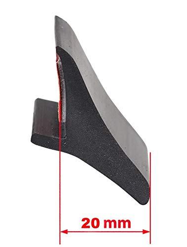 4x universelle Kotflügelverbreiterung 20mm Breit - 200 cm lang passend für PKW, Pickup, Wohnmobil, SUV, Transporter Gummilippe Verbreiterung