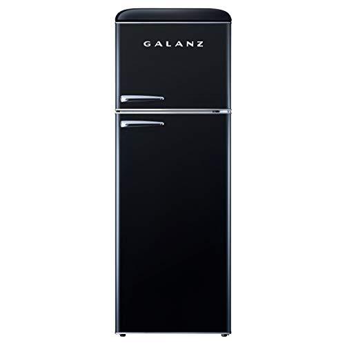 Galanz GLR12TBKEFR Retro Refrigerator, 12.0 Cu Ft, Black