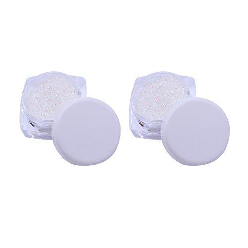 Frcolor 2 pcs Mode Glitter Lâche Poudre Ombre à Paupières Maquillage Partie Kit Cosmétique (Flash Blanc)