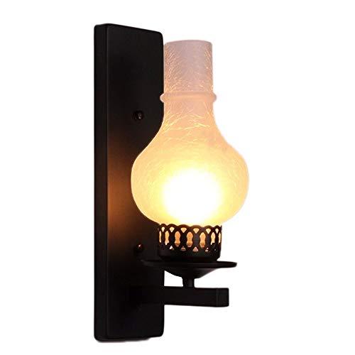 CNCDRS Pared del accesorio de iluminación de la lámpara de la vendimia de la antigüedad del keroseno restaurante Club Bar Pasillo Almacén Iluminación LOFT retro de la palmatoria pasillo linterna de la