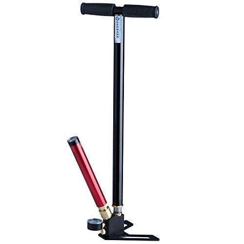 shoot-club24 Pressluftpumpe mit Manometer von Gehmann bis 250 bar - für alle Schützensport-Pressluftkartuschen geeignet