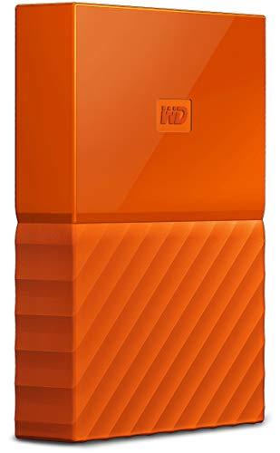 WD My Passport - Disco Duro portátil de 1 TB y Software de Copia de Seguridad automática, Naranja