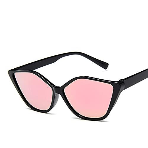 YHKF Gafas De Sol De Moda Cat Eye para Mujer Gafas De Sol De Diseñador Retro Tonos Femeninos Uv400-Pink