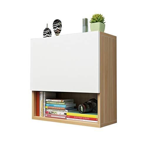 Schränke Wandschrank Bücherschrank Wandschließfach Bücherschrank for Kinder Mit Tür Vitrine Kleiner Bücherschrank (Color : Brown-A, Size : 60 * 25 * 60CM)