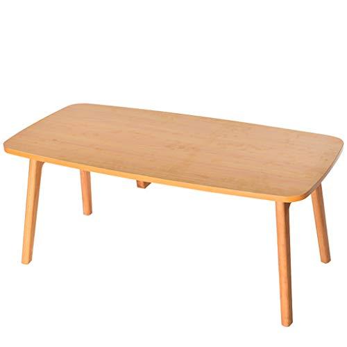 Tables basses Bois Massif Petite Chambre Petit Appartement étude Balcon Mini Table Salon créative Pliable Commode (Color : Wood, Size : 100 * 50 * 43cm)